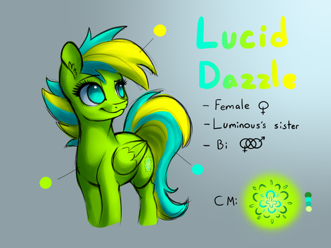 Lucid Dazzle [Reference Sheet] by LuminousDazzle