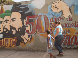Revolutionary Mural in Holguin, Cuba, 2014 by vanfoto