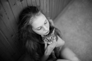 Mary and cat by rmalo5aapi