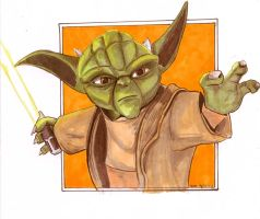 Clone Wars Yoda by LauraInglis