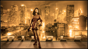 Riddle Rocketeer cosplay wallpaper by xCustomGraphix