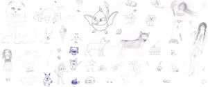 old doodles and drawings #1 by Minakie