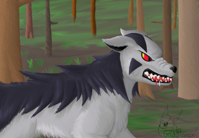 Angry Mightyena by GoldFlareon