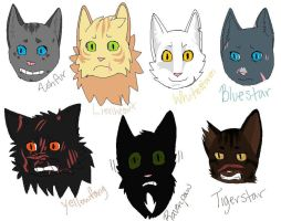 Warrior Thunderclan Cats by SophSouffle