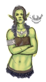 Foxy Orc Female by IronNoodle