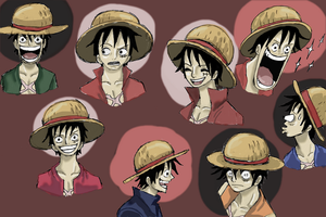 one piece, luffy expression by heivais