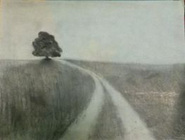 Landscape Drawing by Tlong2011