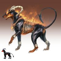 Realistic Pokemon: Houndoom by ReneCampbellArt