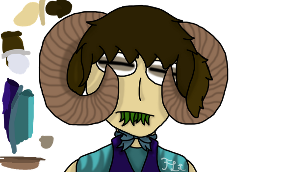 So here's a lil' ram child.(Deon) by FantasyLemonLover