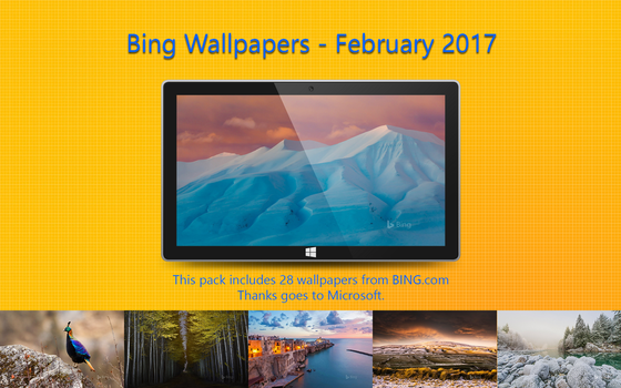 Bing Wallpapers - February 2017 by Misaki2009