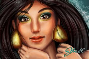Princess Jasmine Closeup by Yoell