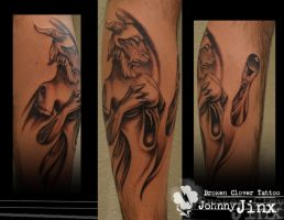 Goat Girl by Johnny Jinx by BrokenCloverTattoo
