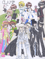 CLAMP collage by chaos-angel5