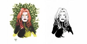 Poison Ivy bust 1 by guillomcool