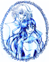 Free Sketch: Fai and Kaori by Wilwarin-Blueberry