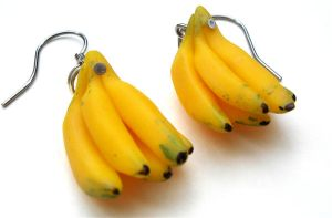 Banana earrings by MotherMayIjewelry