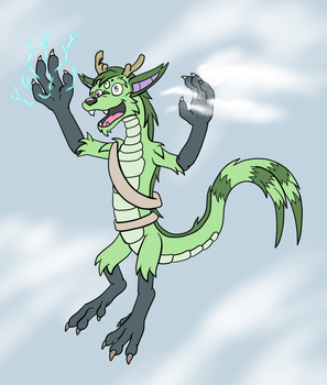 Gift Art - Weather Dragon Sparks by hunterbahamut
