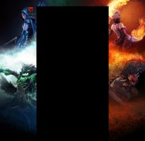 Dota 2 youtube background by duduOmag