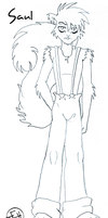 Middiebatcomic character- Saul (rough sketch) by Midniteoil-Burning