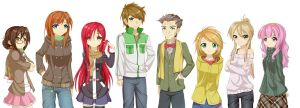The Human Reignition Project - Old Sprite Lineup by OilySalmon