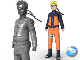 Naruto 3D Model by Show940