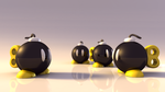 Bob-ombs 3D - Wallpaper by sfox8