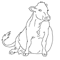 fat cow sit lineart by Sir-Richy