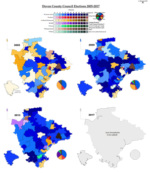 Devon County Council Elections 2005-2017 by AJRElectionMaps