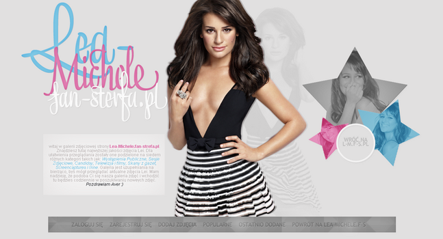 Lea Michele Gallery layout by Imfearless