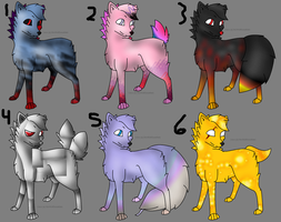 Wolf Adopts (2) (2 Points) by Firestar999