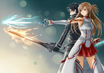 SAO Kirito and Asuna by jastersin21
