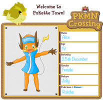 PKMN-Crossing app: Alice by Elen93