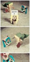 Danbo: Miku vs Link by eivven