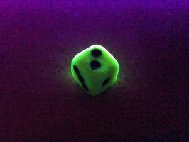 green glow in the dark dice by emuf