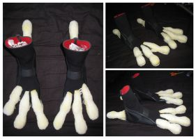 Crow Costume Feet WIP by CuriousCreatures