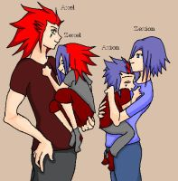 An AkuZeku Family by NoraMooney