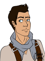 Nathan Drake Flat Coloring (WIP) by InvaderSonicMx