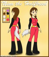 Nina the Halfbreed 2014 by Mytokyokitty