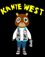 Kanye West's Dropout Bear by I-loot-I