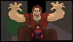 Wreck it Ralph and Tadashi! by NomNommyy