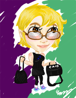 Self-Charicature SPEEDPAINT by The-Concept-Artist