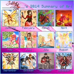 2014 summary of art by Laddy-of-Fire