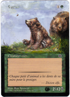 Altered card - Bear cub by JohannesVIII