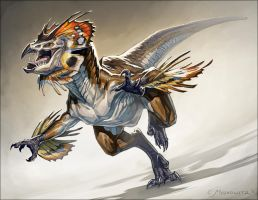 Frilled Raptor by Fleurdelyse