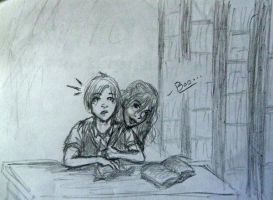 In the Library - Scorpius and Rose by TheOddGod