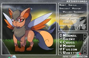 PN: Sheila the Vulpix/Vullaby/Skarmory Cross