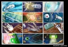 Stpryboard Work A Space Story01 Col by yen-wen-hsieh