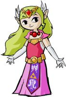 Toon Zelda by Batman316