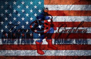 captain america with usa flag by mademyown