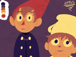 Gnome and teapot child (color palette challenge) by LotusTheKat